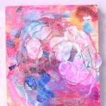 Salt Painting Collage Process Art
