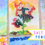salt painting process art