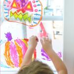 Simple Halloween Art Activity for Kids - Pumpkin Suncatchers