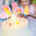 These are the sweetest birthday cake decorations. Kid made, adorable and free!