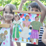 Super easy collages from contact paper and vintage cutouts