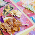 Make a mixed media collage with tinker trays. Great process art for kids.