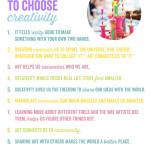 11 Reasons to Choose Creativity