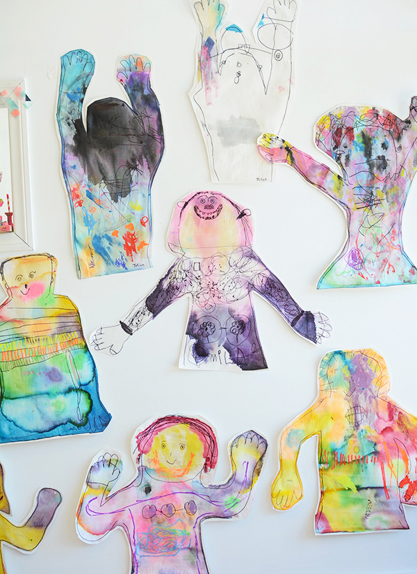 Body Tracing Self Portraits for Kids