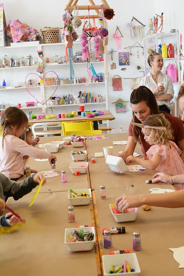birthday parties in an art studio