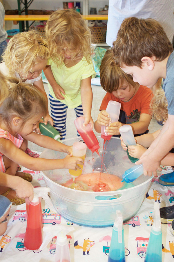 Toddler Art Play Group - An amazing sensory experience