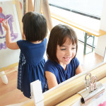 The magic of easel painting for kids