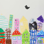 Make your own city - easy art project for kids
