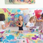 Large scale collaborative mural for kids