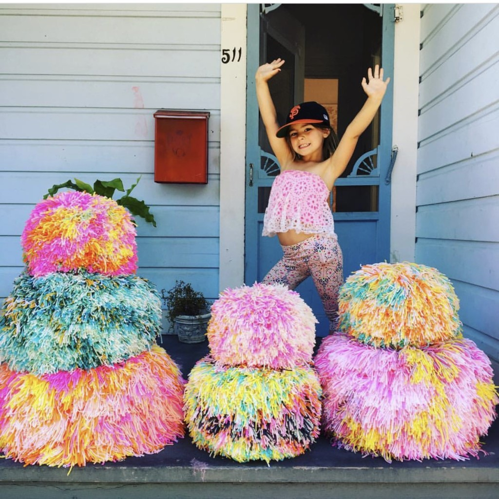 Epic Pom Pom Party - Gigantic Pom Pom Poufs