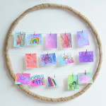 hula hoop picture frame