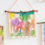 process art wall hanging for kids
