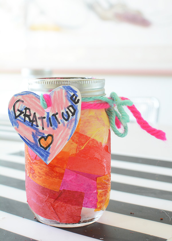 How to make a Gratitude Jar with kids