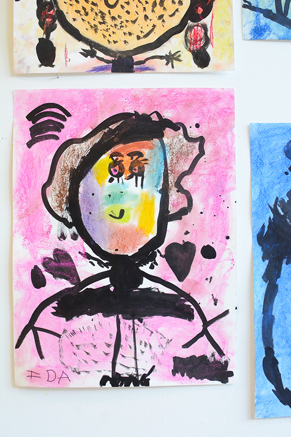 Self Portraits - Great art activity for 3-5 year olds