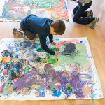 How to Make a large scale mural with kids