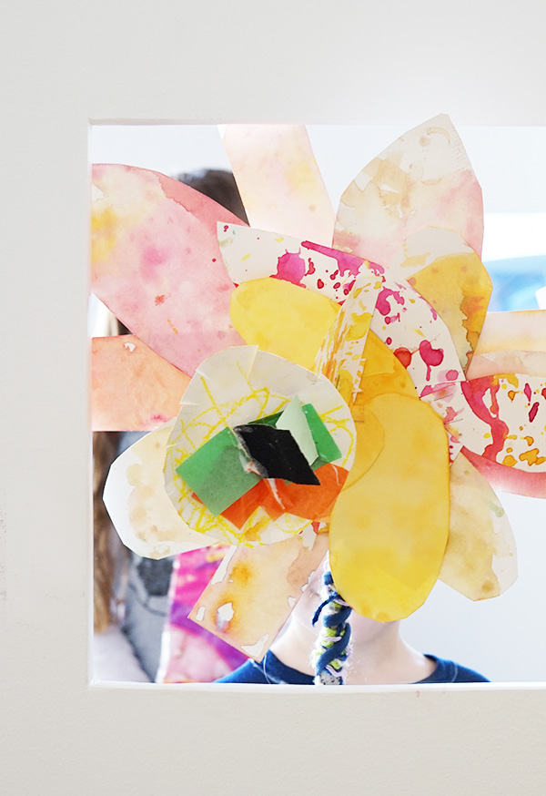 Process Art Paper Flowers