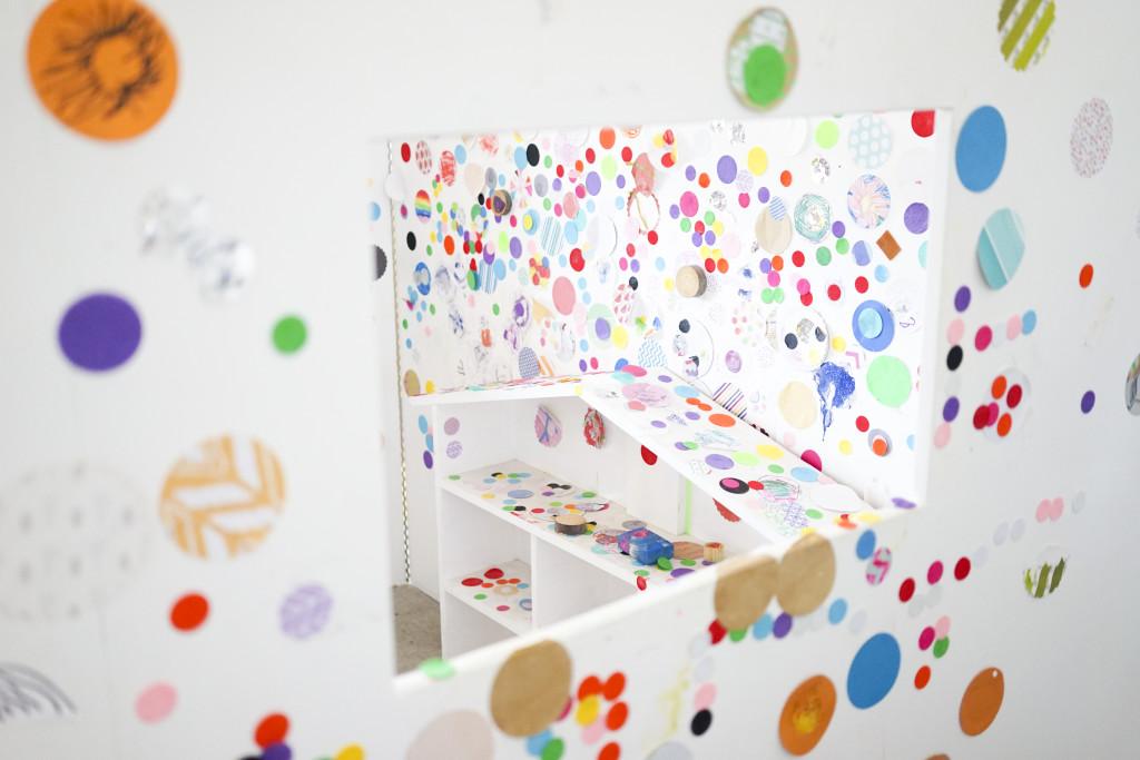 "Yayoi Kusama Inspired ""Dot House"" aka Obliteration Room"