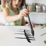 Sumi Ink Leaf Prints for Kids