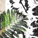 Sumi Ink Leaf Prints for Kids