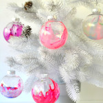 Marbled Ornaments for Kids