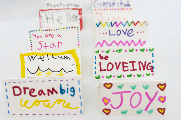 DIY Holiday Place Cards for Kids