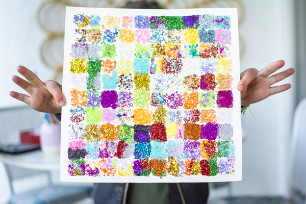 100th day glitter project