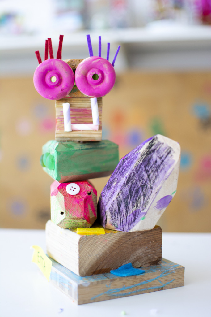 Creative Wood Sculptures with Kids