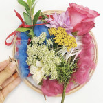 embroidery hoop nature bouquet
