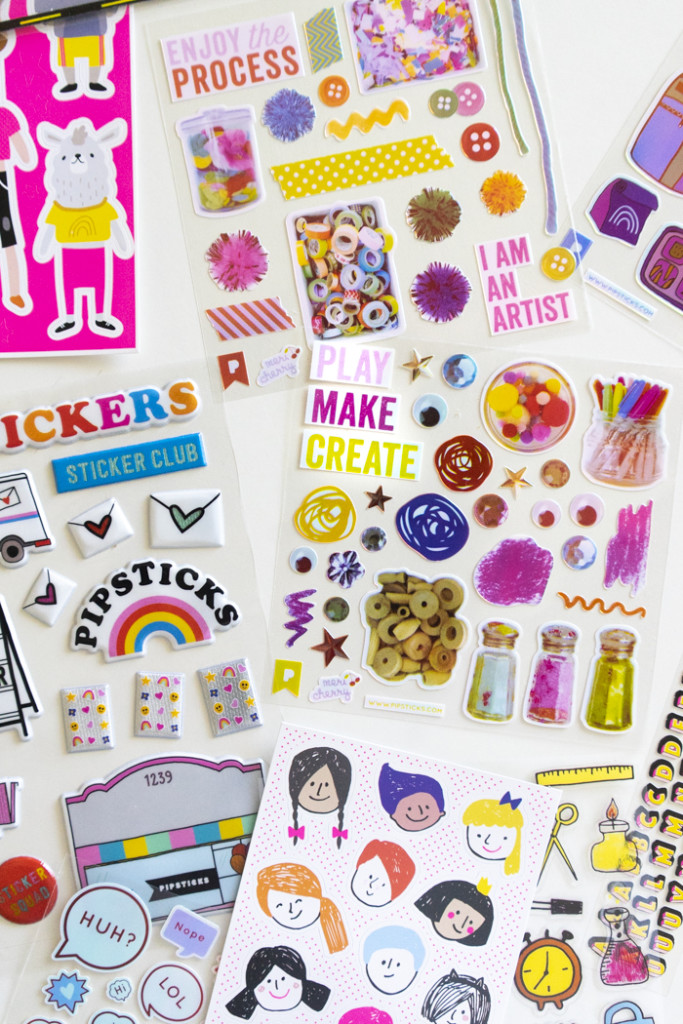 Pipsticks and Meri Cherry Sticker Club for Kids